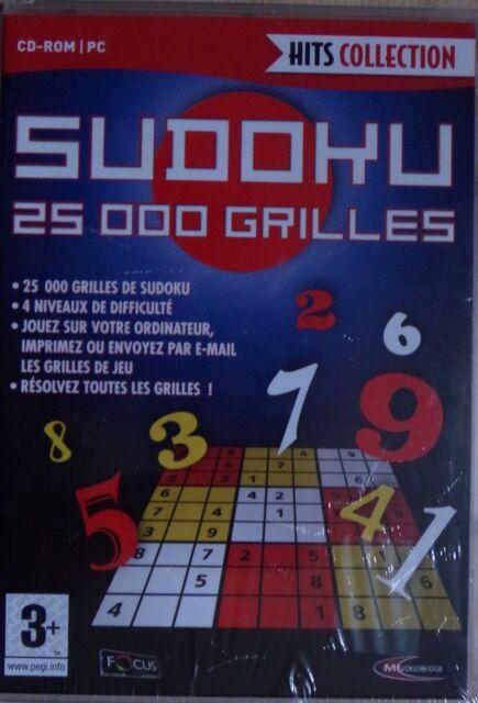 #) HITS COLLECTION - SUDOKU 25 000 GRILLES - jeu PC