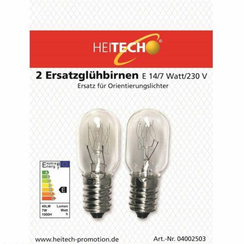 2er Blister 7 Watt 5x Heitech E14 Ersatzglühbirnen E14 230 Volt
