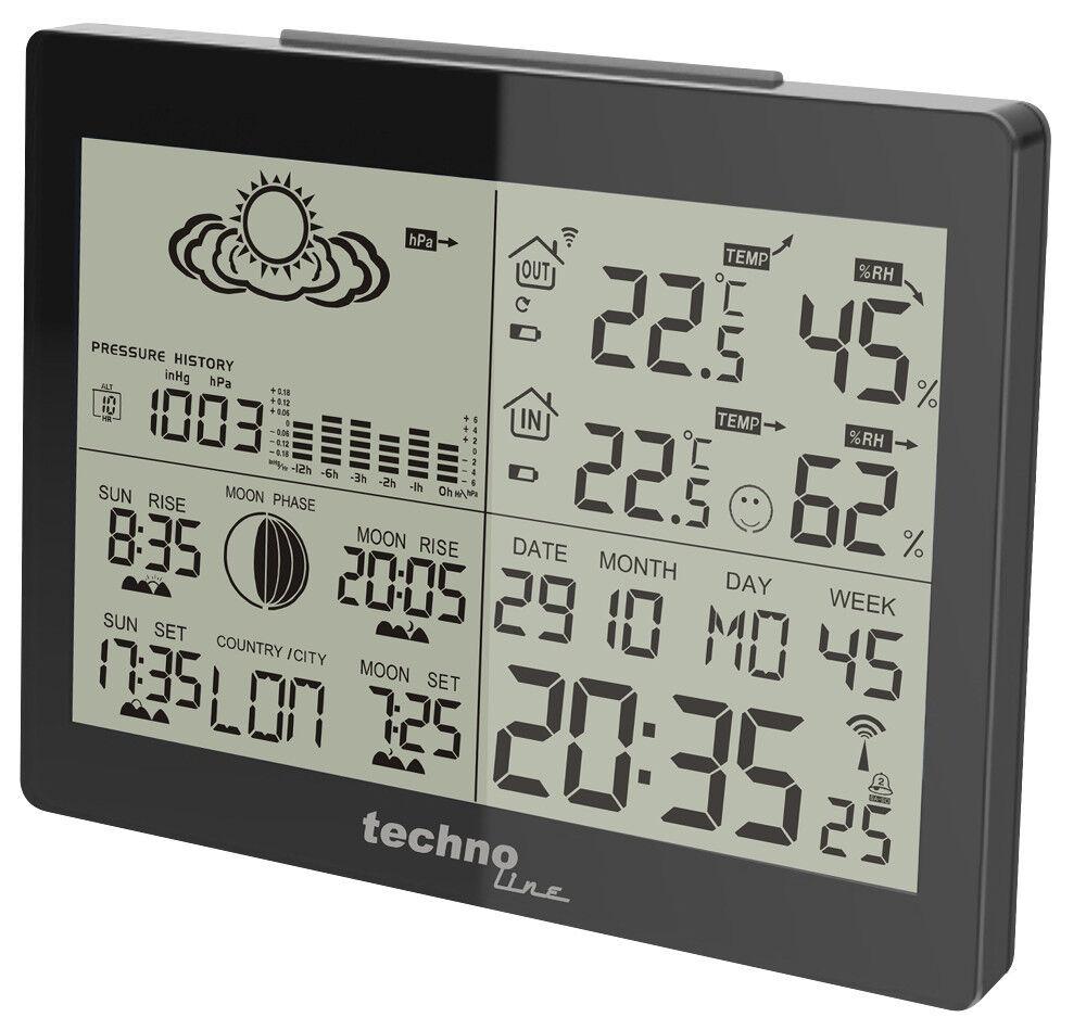 Technoline Ws 6760 Alto Brillo Óptica Estación Meteorológica