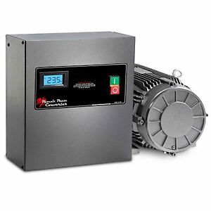 3 hp rotary phase converter tefc voltage display power. Black Bedroom Furniture Sets. Home Design Ideas