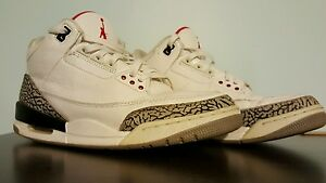 low priced f5404 448ef ... norway image is loading 2011 air jordan retro white cement 3 size 5cdc3  03e46