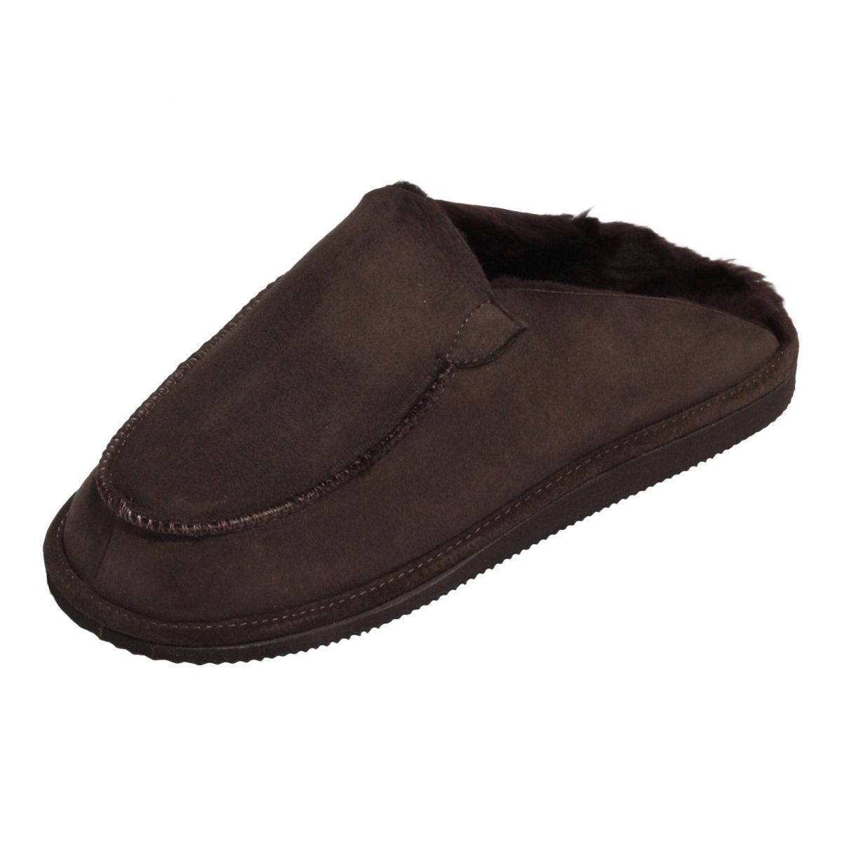 Lamb Wool House Shoes - Peter Men's Slippers Leather Shoes fur Shoes