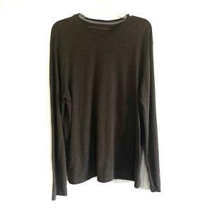 BANANA-REPUBLIC-manches-longues-Soft-Wash-T-shirt-a-encolure-ras-du-Cou-Tee-shirt-homme-Brown-Sz-XL