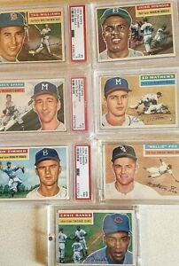 1956-topps-lot-123-all-white-backs-includes-7-stars-AND-MANTLE-lot-1