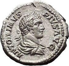 CARACALLA 201AD Silver Ancient Roman Coin Felicitas Good luck Cult  i51143