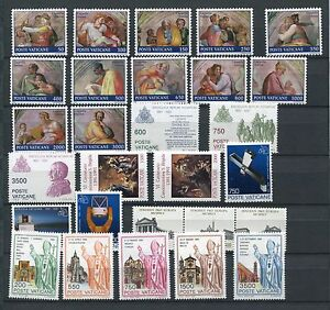 VATICAN-1991-MNH-COMPLETE-YEAR-28-Stamps
