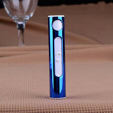 Arc Electronic Windproof Mini Lighter Recharge Cigarette Metal Shell USB Blue