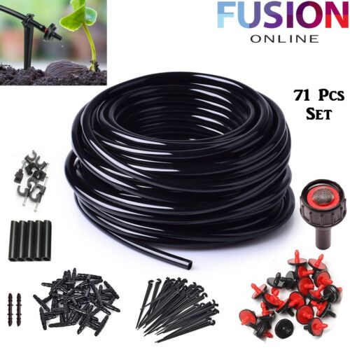 Micro Irrigation Watering Garden Plant Greenhouse Automatic Water System Set 23M