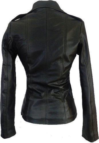 mouton Fit Slim de en peau en véritable de Veste véritable véritable en cuir pour motard cuir femmes Rx0FWHC