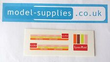 Matchbox 47B Commer Lyons Maid Ice Cream Reproduction Waterslide Transfers Set
