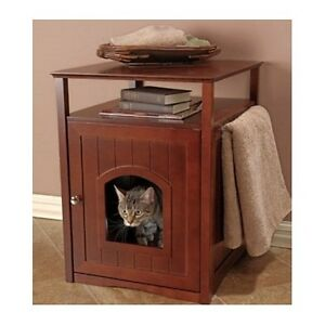 Litter Box Furniture Hidden Cat Dog Bed Side Table Bathroom Stand
