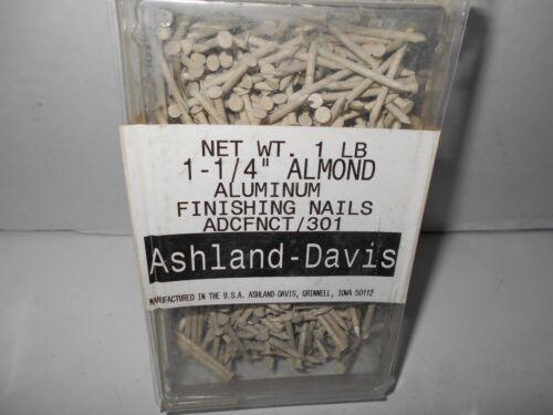 """Ashland-Davis Aluminum 1-1//4/"""" Finishing Nails ALMOND ADCFNCT//301 NEW OS 1 Lb"""