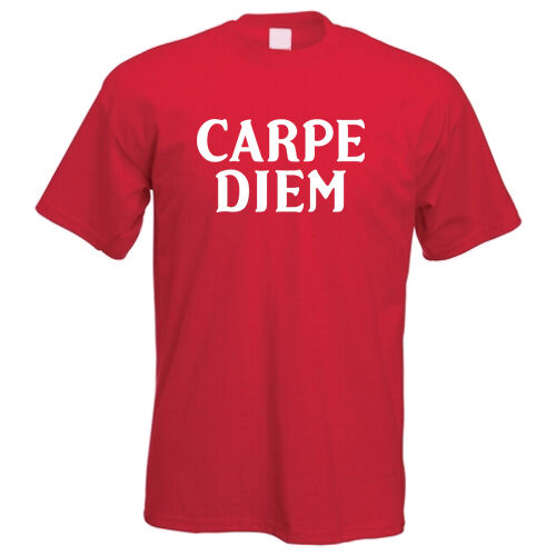 Carpe Diem Seize The Day Latein Cool Slogan Motivational T-Shirt