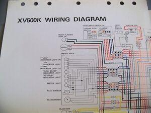yamaha factory technical xv500k wiring diagram ebay  image is loading yamaha factory technical xv500k wiring diagram