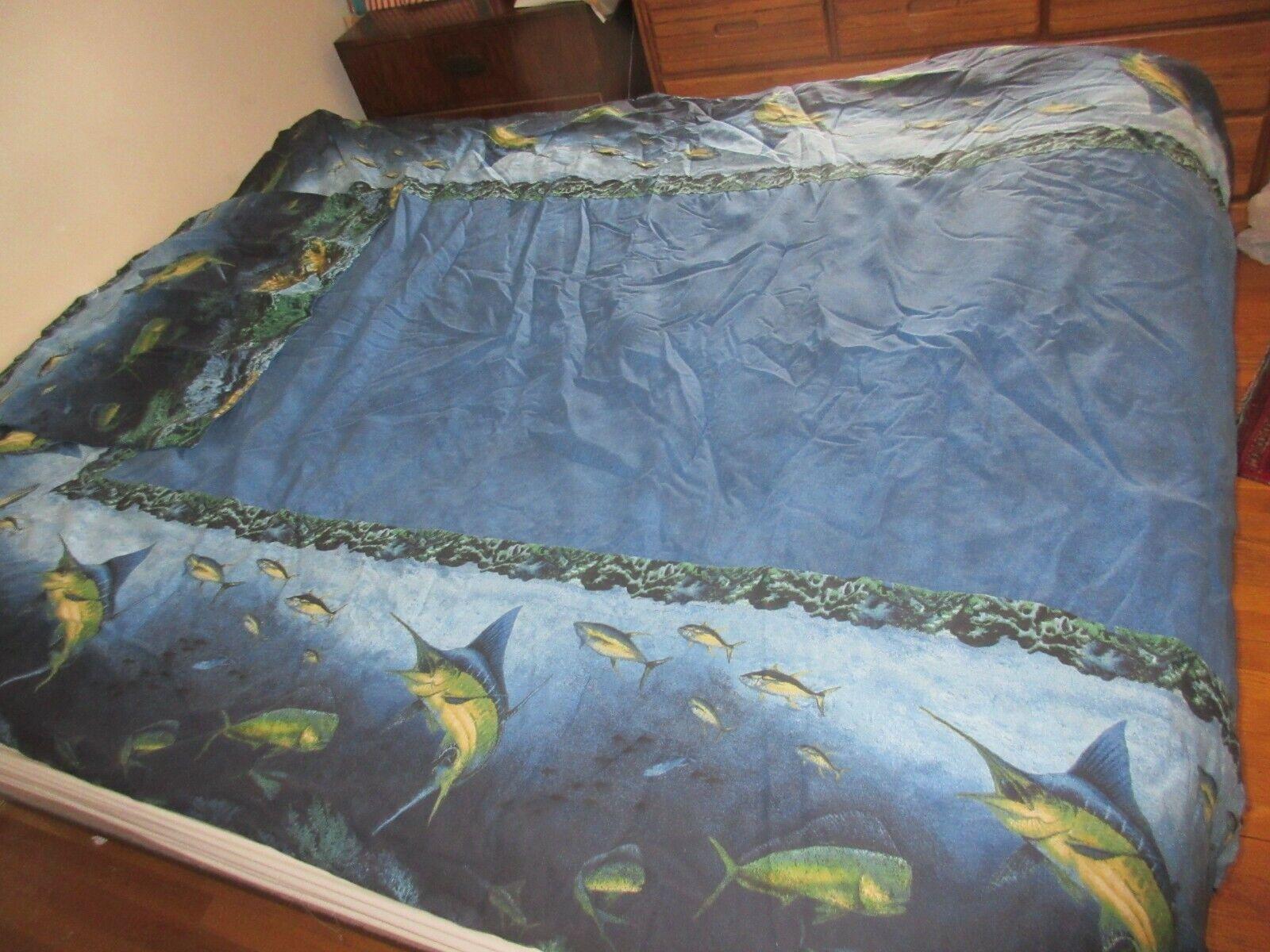 Marlin Ocean Fishing Deep Blau Bedspread Comforter & Pillow Sham Set Twin Größe