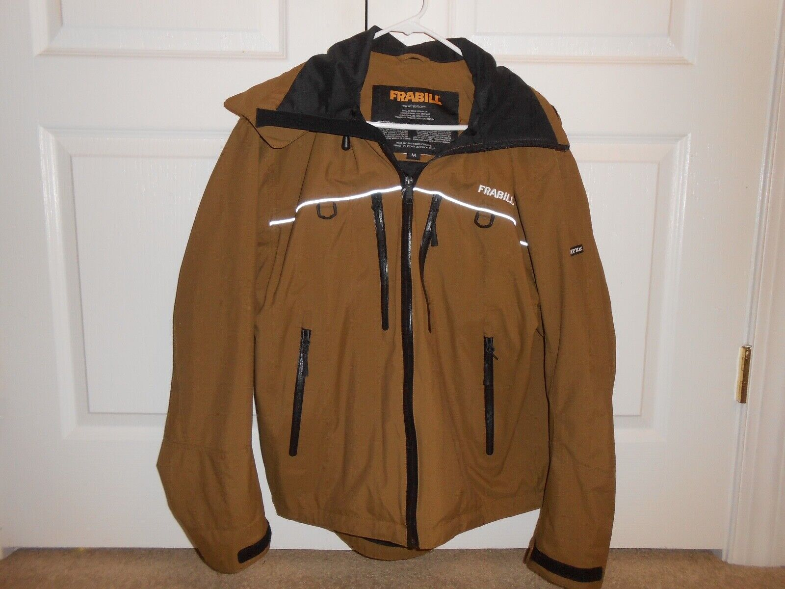 NEW! Frabill F3 Gale Fishing Rainsuit Rain Jacket Color Brown Size Choose
