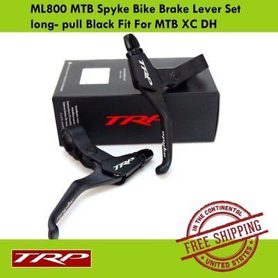 pull Black Fit For MTB XC DH TRP ML800 MTB Spyke Bike Brake Lever Set long
