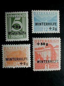 ANK 563/66, WINTERHILFE I, saubere Marken mit Falzrest,  KW 50,-