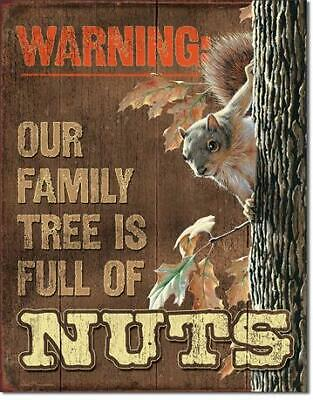 Our Family Tree Is Full Of Nuts Squirrel Funny Ice Box Refrigerator Magnet