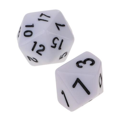 20x Mehrseitige Würfel D4 D6 D8 D10 D12 D20 D24 D30 D60 Set Dungeons D /& D