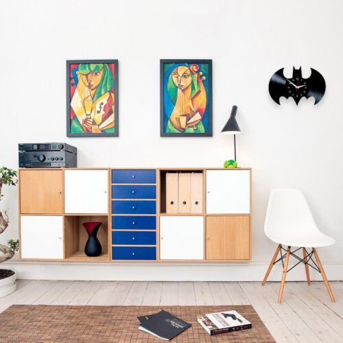 Batman Sign Logo Emblem Dc Comics Vinyl Record Wall Clock Room Decor Best Gifts Decorative Clocks Clocks