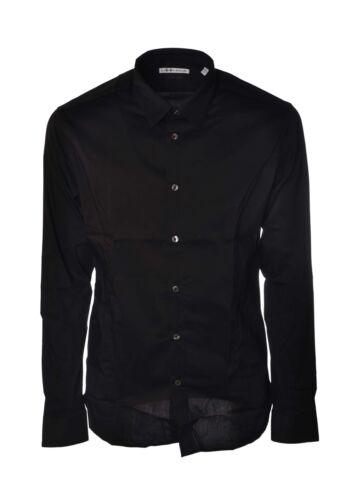 camice Camicie Daniele Uomo 4066131g184521 Nero Alessandrini EqwCBS