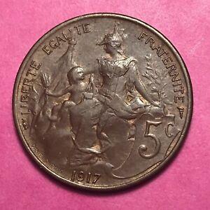 #307 - Rare - 5 Centimes 1917 Dupuis Ttb+/sup - Facture