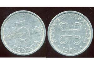 FINLANDE-5-pennia-1985-bis