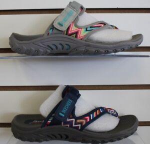 Details about Womens Skechers 48228 REGGAE ZIG SWAG Beach Slides Outdoor Sport Sandals