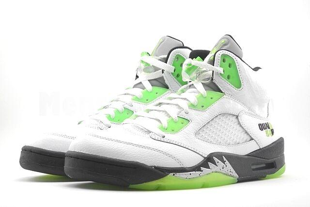 2011 Nike Air Jordan V 5 Retro Q54 SZ 9 Quai 54 blanc Radiant Green 467827-105