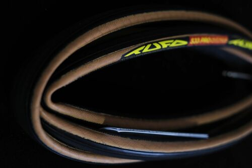 "red Tufo S33 Pro Tubular Tyre 28/"" 21 mm in black transparent beige"
