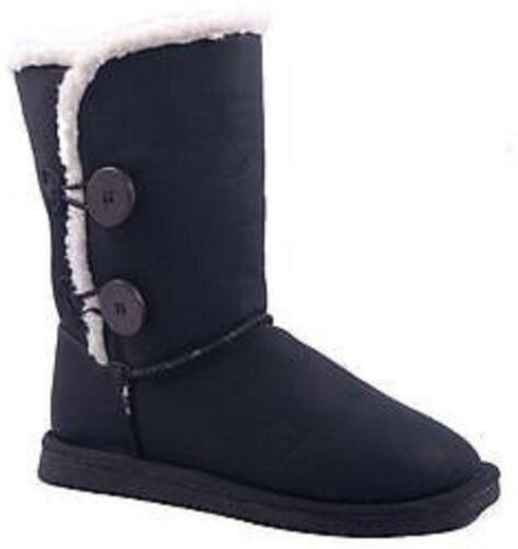 Femmes Hiver Boots Bottes D/'hiver Bottines Fourrure Synthétique Noir Taille 36