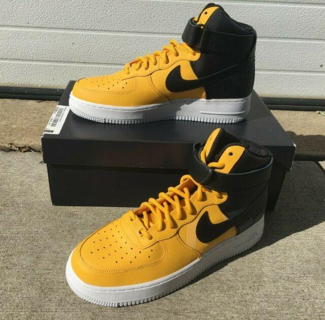 Nike Air Force 1 High '07 LV8 Shoes Yellow Black White AV8364 700 Men's NEW