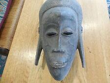 Vintage African Ivory Coast Senufo People Mask of the Poro Society.