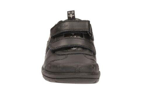 Divertido Jnr Colegio Clarks De Niños Negro Zapatos Jetsky 1WqqaY0gw
