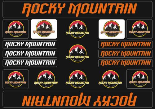 Rocky Mountain  Bicycle Frame Decals Stickers Graphic Adhesive Set Vinyl Orange