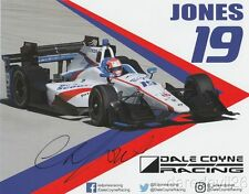 2017 Ed Jones signed Boy Scouts Dale Coyne Racing Honda Indy Car postcard