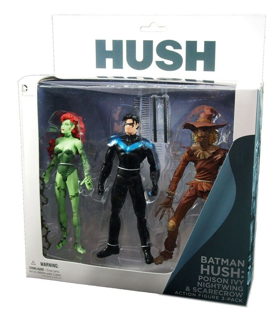 Dc comics, batman still 3pk actionfiguren, poison ivy, nightwing, vogelscheuche