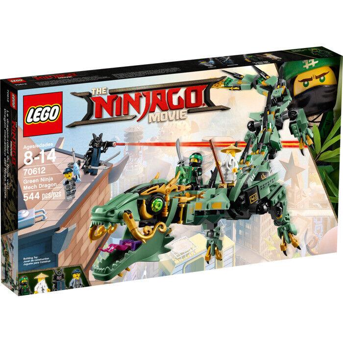 Película Lego Ninjago  Dragón verde Ninja Mech (70612) Nuevo en Caja Juego De 2017