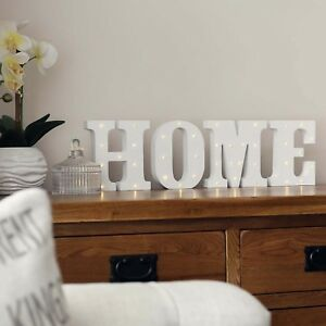 Details About 16cm Battery Indoor Home Led Light Up Letters Bedroom Christmas