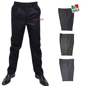 Pantalone uomo taglie forti 59 61 63 65 67 69 71 73 75 calibrato inverno grigio