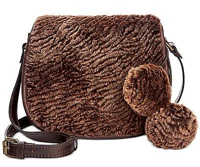 Patricia Nash Laser Cut Sherpa Chocolate Brown Leather Saddle Bag Purse New 887986048192 Ebay