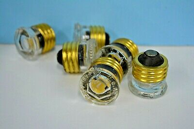 5-PK W-10 COMMERCIAL FUSE CO NEW Fuses 10 Amp Screw In Plug NEW Pyrex BRASS BASE