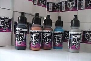 NEW-COLOURS-VALLEJO-GAME-AIR-ACRYLIC-AIRBRUSH-PAINTS-CHOOSE-ANY-5-x-17ml-BOTTLES
