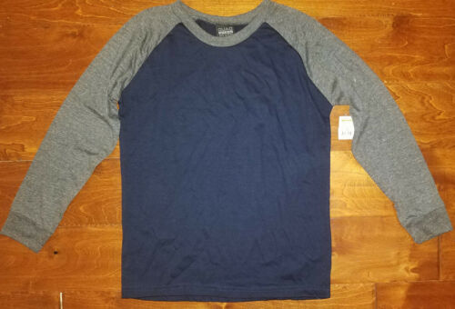 16-18 XL 8-10 Boy/'s Quad Seven Black /& Gray Long Sleeve T-Shirt Top Sizes M