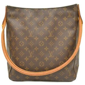 Louis-Vuitton-Looping-GM-M51145-Monogram-One-Shoulder-Hand-Tote-Bag-Brown-LV