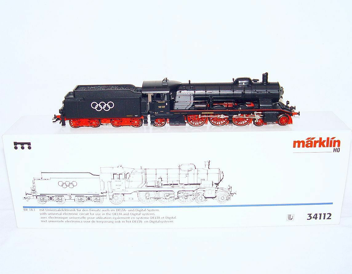 Marklin HO AC German Reichsbahn DR BR-18 OLYMPIC GAMES Steam Locomotive MIB RARE