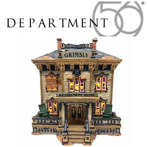 NEW Department 56 Halloween Grimsly Retirement Home 4020229 Snow Village Boxed