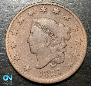 1827-Coronet-Head-Large-Cent-MAKE-US-AN-OFFER-B6323