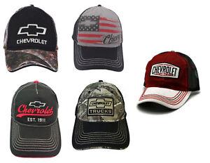d8f678ce5 Details about Chevy Cap GM Chevrolet Trucks Camo Trucker Flag Baseball Caps  Hat Adjustable
